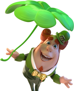 Green leaf clover character