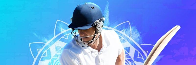 Guy playing cricket at 10CRIC
