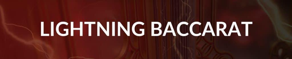 Lightning Baccarat Banner