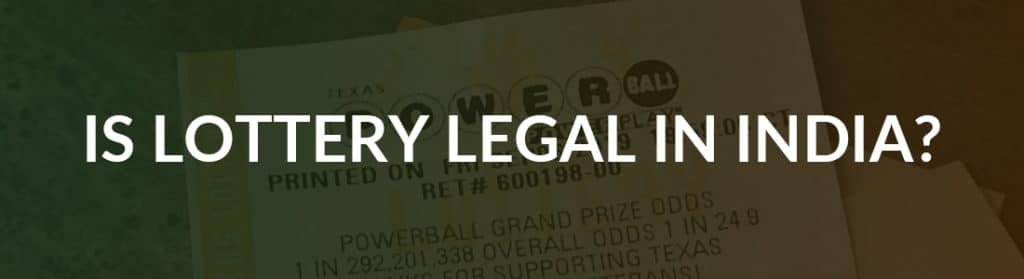 is lottery legal in india image